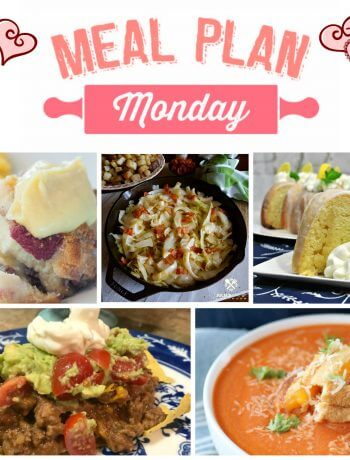 Meal Plan Monday #149 - Free meal planning recipes - Taco Casserole, Mickey's Breakfast Casserole, Lemon Bundt Cake, Creamy Tomato Soup, Fried Cabbage