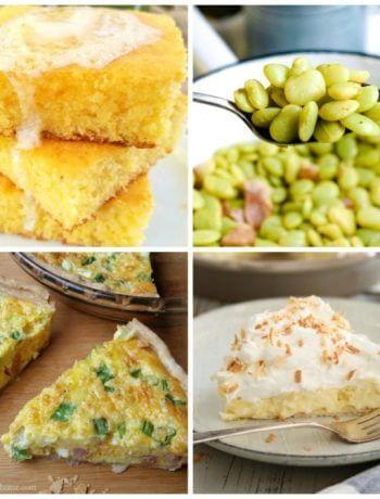 Spiffy Jiffy Cornbread, Southern Lima Beans, Make Ahead Quiche, Coconut Cream Pie