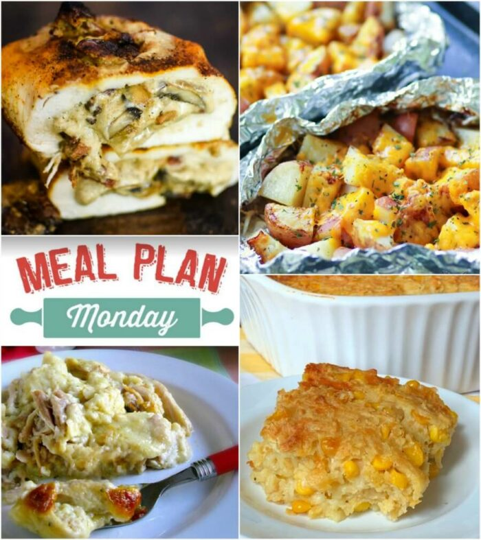 Meal Plan Monday #167 Stuffed Mushroom Spiral Chicken Food Photo Collage