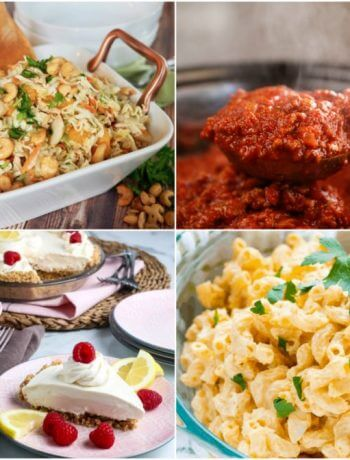 Meal Plan Monday 218 Collage of Featured Recipes