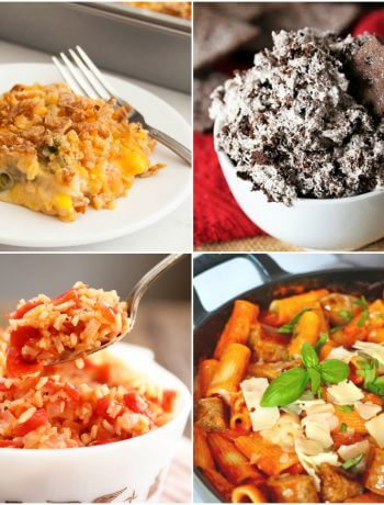 Meal Plan Monday 223 Cover photo showing the featured recipes in the post