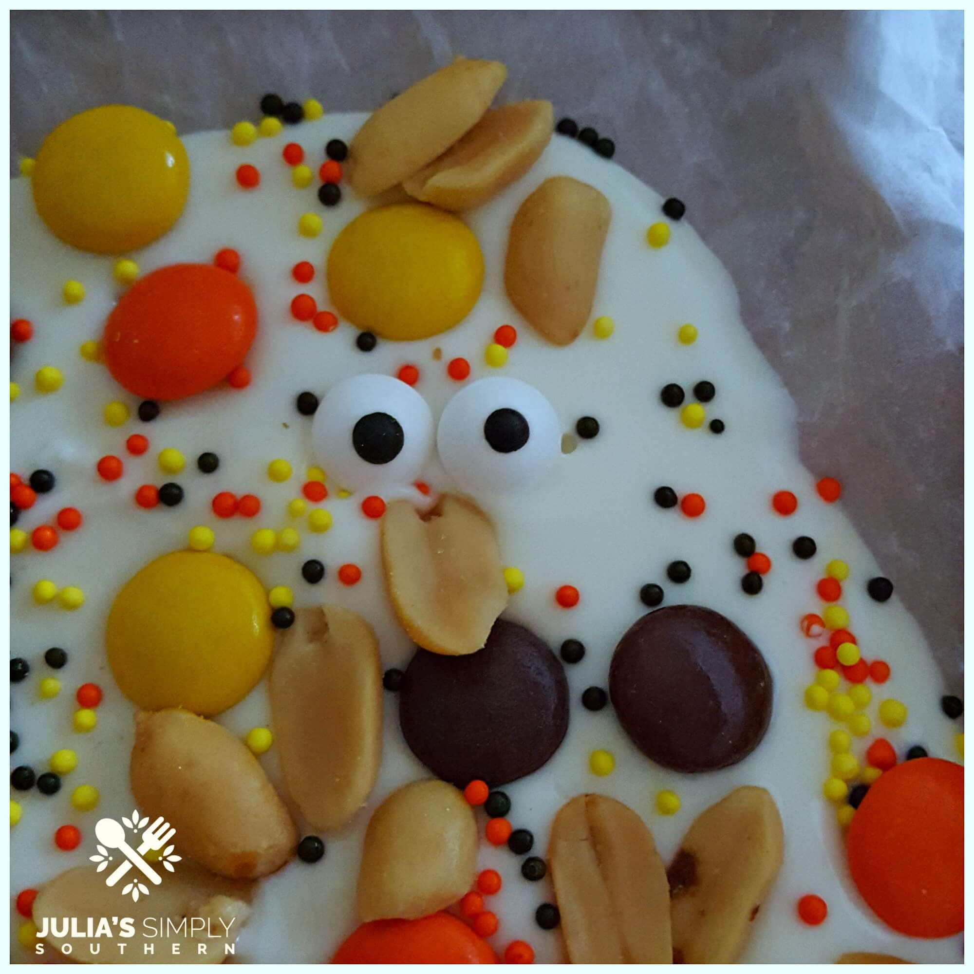Chocolate bark for Halloween - Julia's Simply Southern