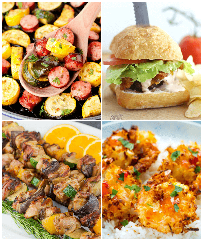 Meal Planning Recipes burgers, kabobs,