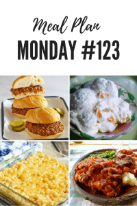 FREE meal planning recipe ideas at Meal Plan Monday 123