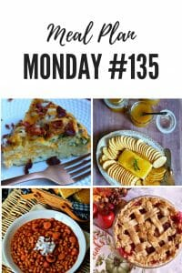 Meal Plan Monday #135 - Easy Breakfast Casserole, Crock Pot Beans and Weenies, Cranberry Apple Pie, Jezebel Sauce and Cream Cheese Appetizer PLUS over 100 more recipes shared by bloggers #breakfast #lunch #dinner #dessert #appetizers #MealPlanMonday