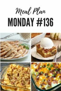 Weekend Potluck #136 Slow Cooker Turkey Breast, Pecan Pie Bread Pudding, Twice Baked Potato Casserole and Pumpkin Spice Dump Cake #MealPlanMonday #FoodBloggers #Recipes