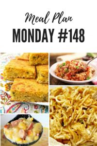 Meal Plan Monday #148 - Navajo Cornbread, Chicken Spaghetti, Jambalaya, Kielbasa Potato Soup and over 100 more delicious recipes shared by food bloggers to help you with your meal planning #Recipes #Foodbloggers #freemealplanning #MealIdeas #easyrecipes