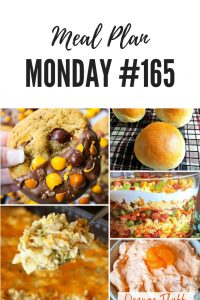 creamy chicken and rice casserole, orange fluff, homemade rolls, layered salad, cookies