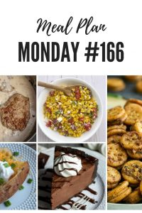 Pinterest - Meal Prep - free meal planning recipes at Meal Plan Monday #166. Cubed Steak and Milk Gravy, Summer Corn Salad, Slow Cooker Baked Potatoes, No Bake Chocolate Cheesecake, Seasoned Ritz Bits and over 100 more recipes to inspire your family meals for the week ahead. #mealplan #mealplanning #mealprep