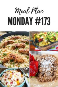 FREE meal planning recipes shared by food bloggers at Meal Plan Monday #173, such as chicken scampi, garden casserole, ambrosia, coffee cake and over 100 more delicious family inspired meals #MealPlanMonday #freemealplanning #healthyrecipes #familydinner