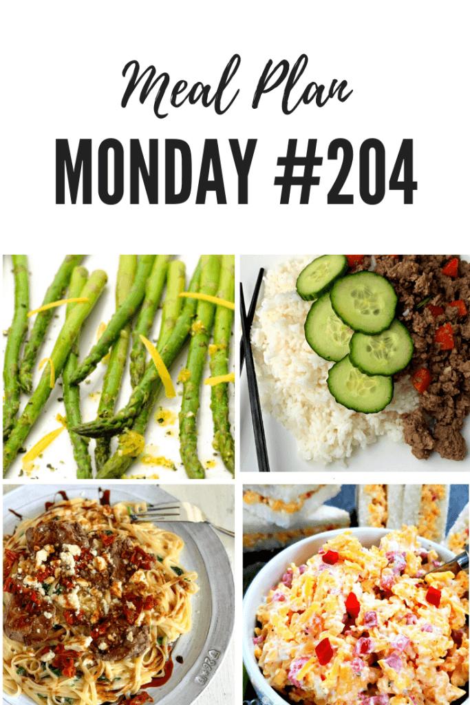 Meal Plan Monday 204 Pinterest