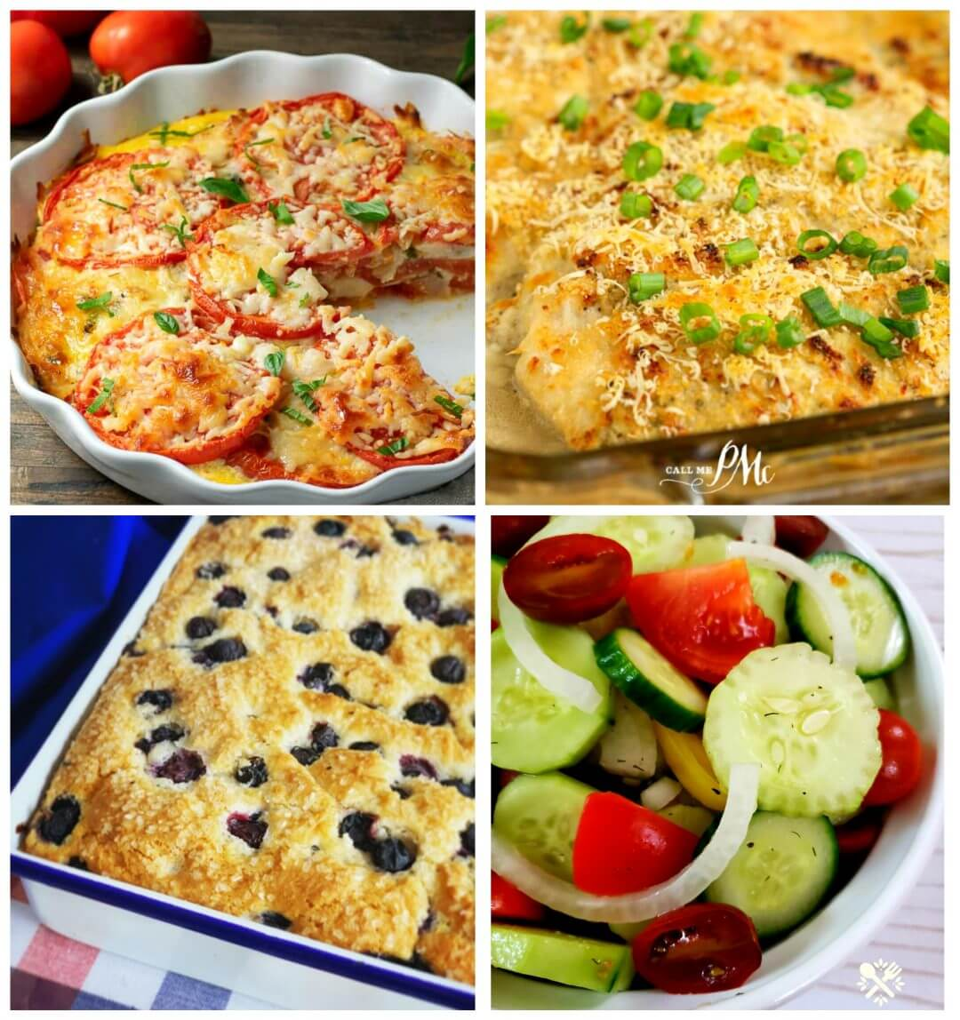 Collage of featured photos in Meal Plan Monday edition 224
