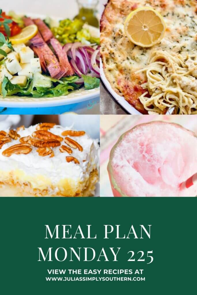 Pinterest Cover Image for Meal Plan Monday 225