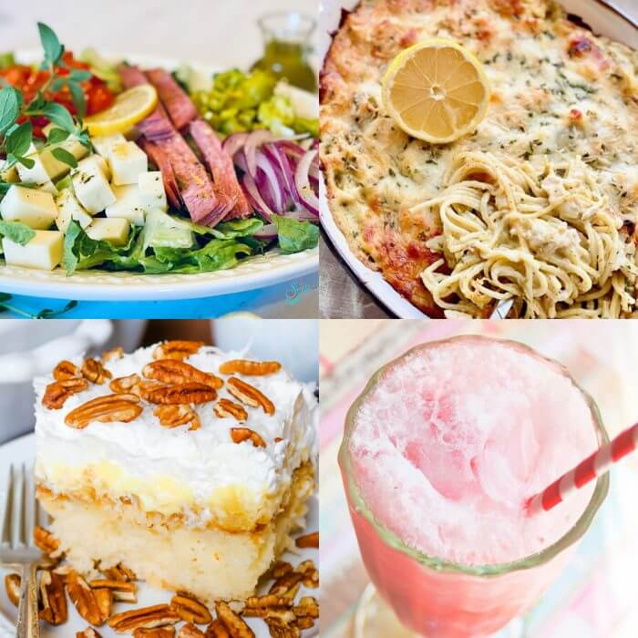Meal Plan Monday cover photo collage showing featured recipes