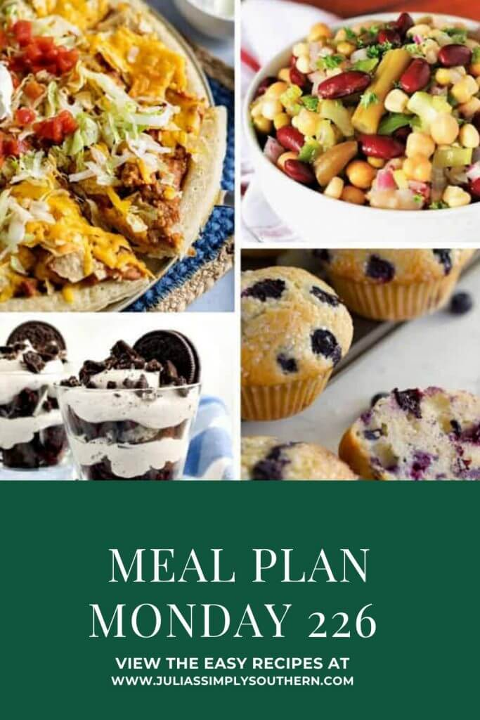 Pinterest Cover Meal Plan Monday 226