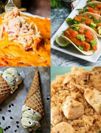 Photo collage showing the featured recipes of Meal Plan Monday 230