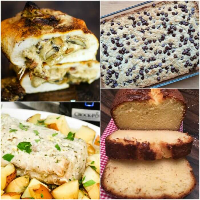 Collage photo showing the featured recipes in Meal Plan Monday 232