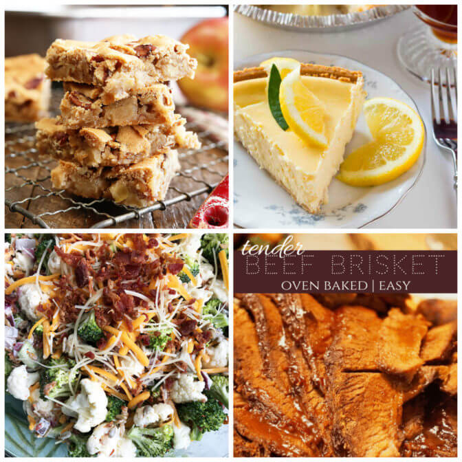 Collage of the featured recipes at Meal Plan Monday 233