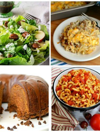 Collage photo of the recipes featured at Meal plan Monday 234