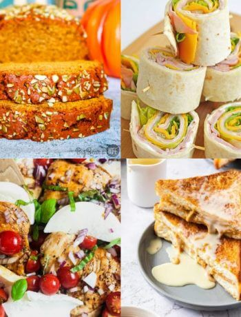 Collage of featured recipes in the Meal Plan Monday 235 post