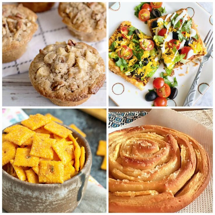 Meal Plan Monday 236 collage of featured recipes in post