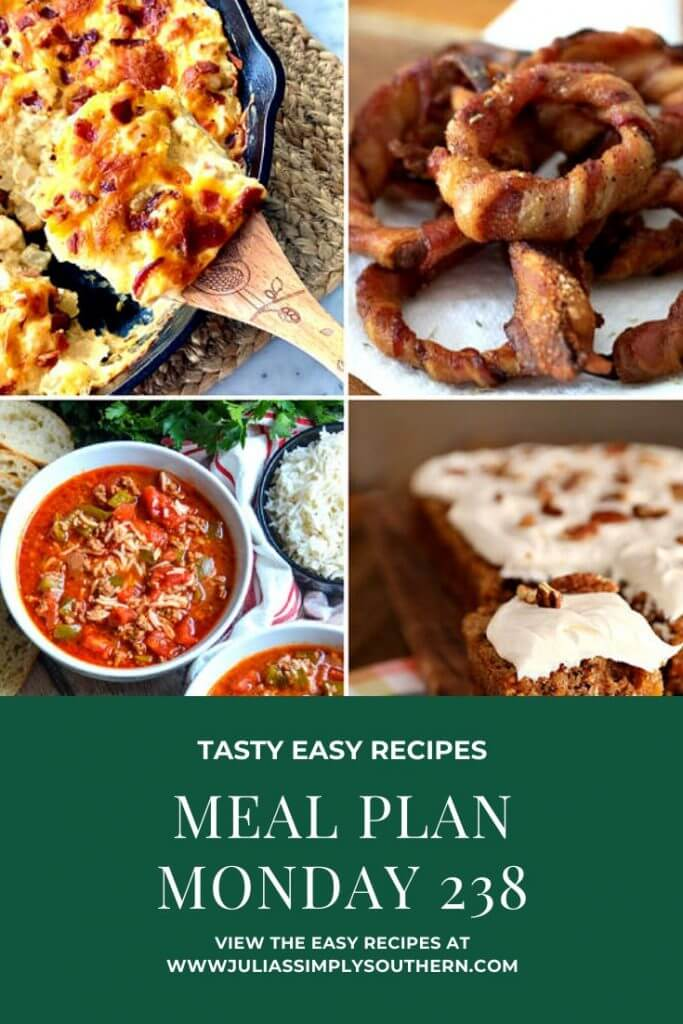 Meal Plan Monday 238 featured recipes