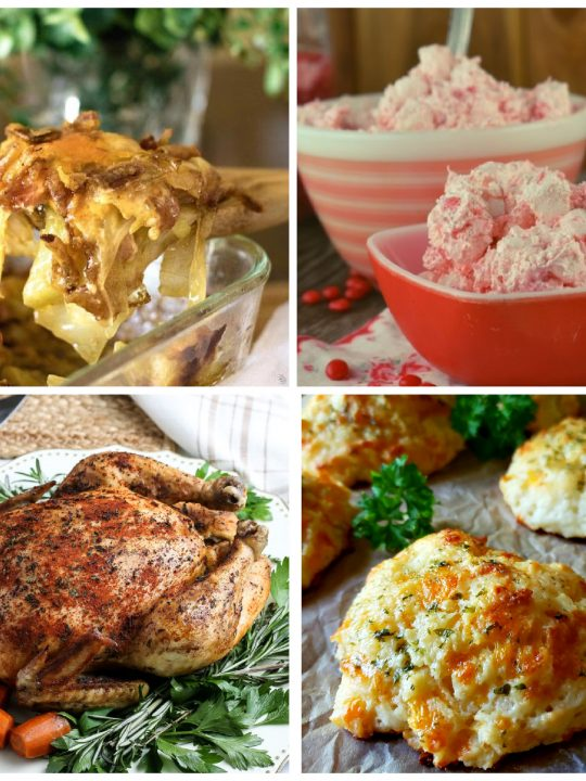 Collage of featured recipes at Meal Plan Monday 249