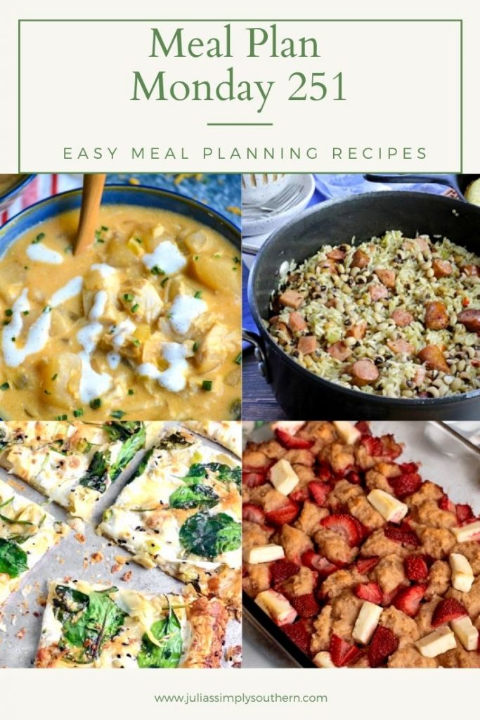 Meal Plan Monday 251 Pinterest graphic