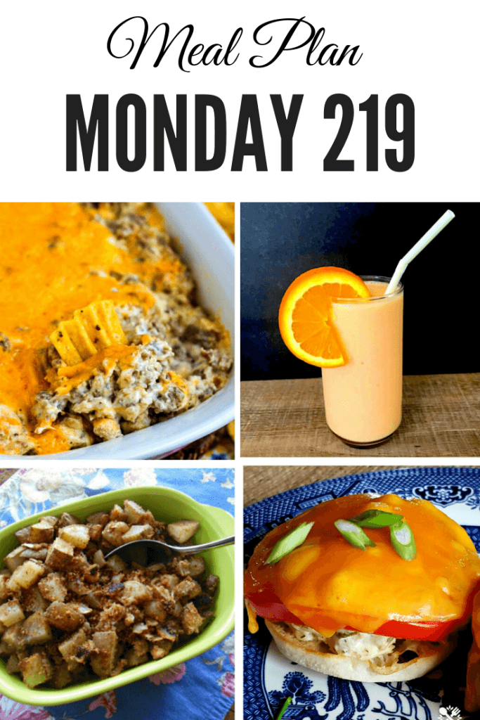 Pinterest image for Meal Plan Monday 219