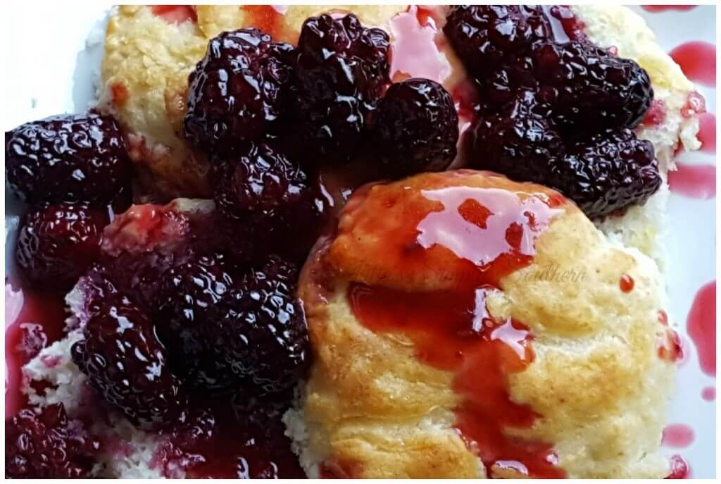 Old Fashioned Blackberry Dumplings -Nanny's Old Fashioned Blackberries and Biscuits