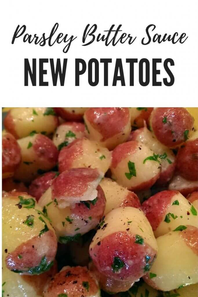 Baby red new potatoes finished in an herbed butter sauce
