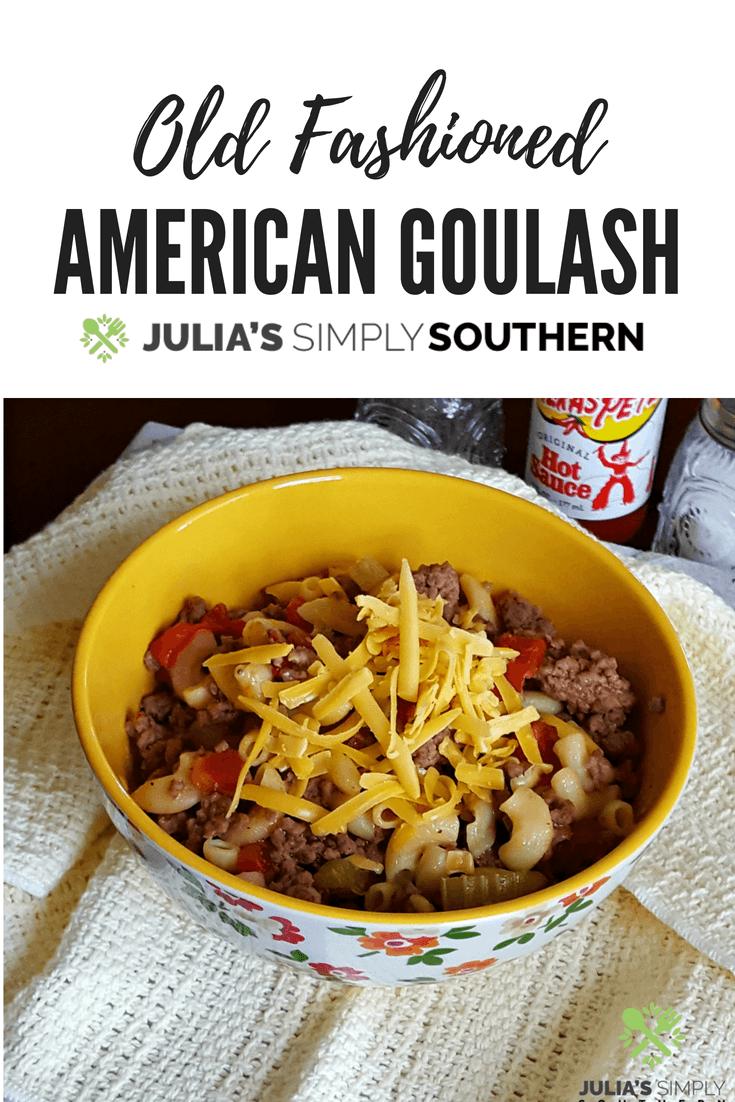 American Goulash Recipe #onepot #beef #pasta #tomatoes #easyrecipe #classic