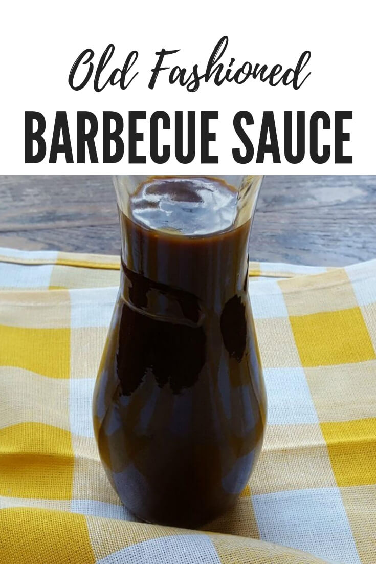 Sweet and Spicy Old Fashioned BBQ sauce recipe in a glass bottle