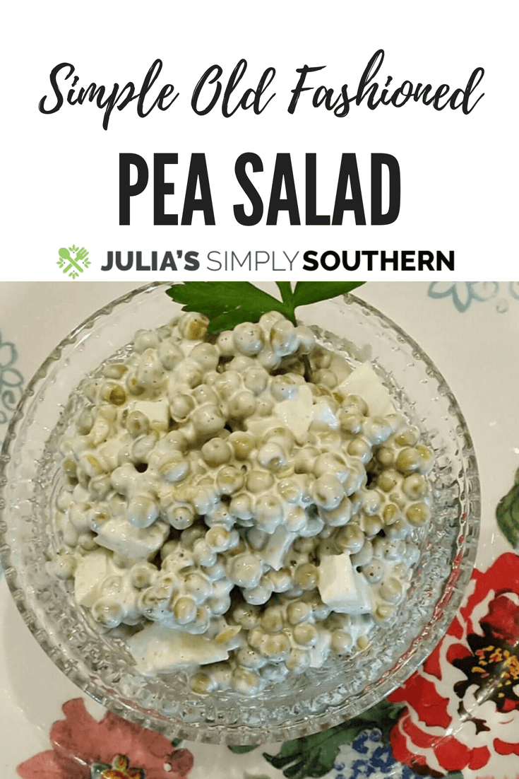 Old Fashioned Pea Salad, an easy side dish