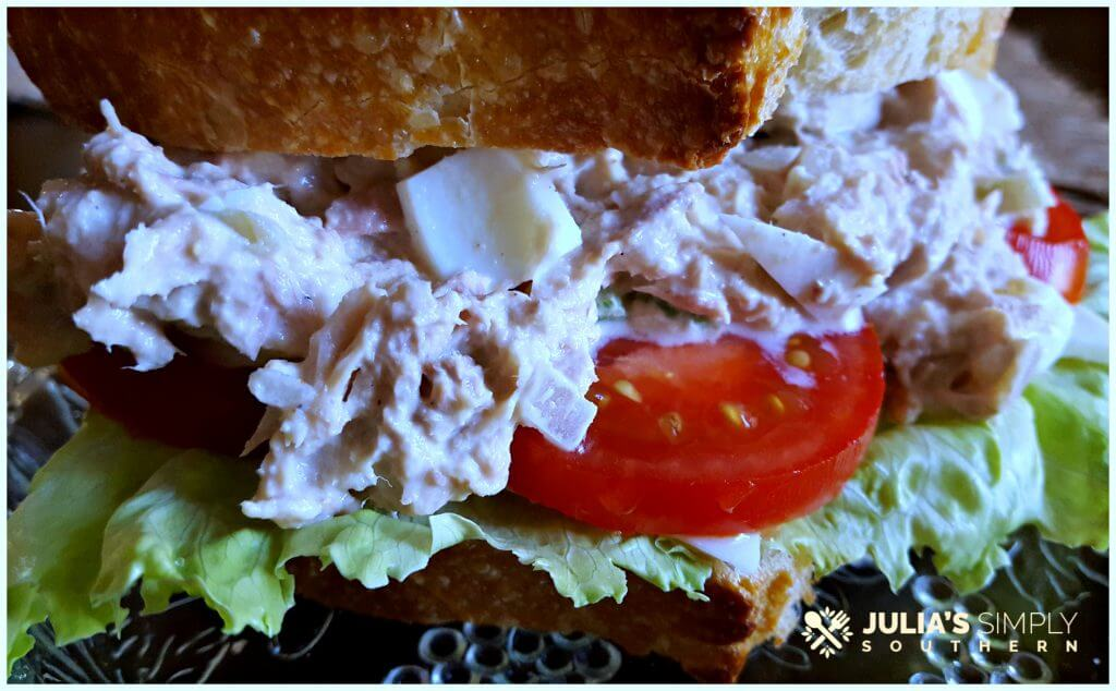 Perfect tuna salad sandwich