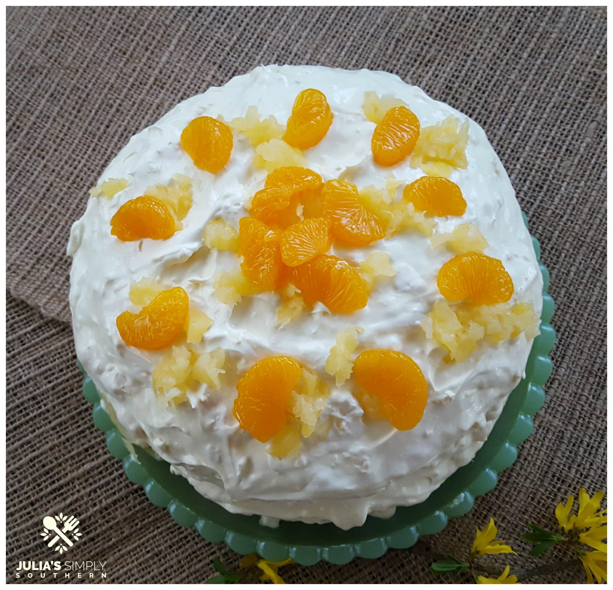 Mandarin orange cake - pig pickin' cake