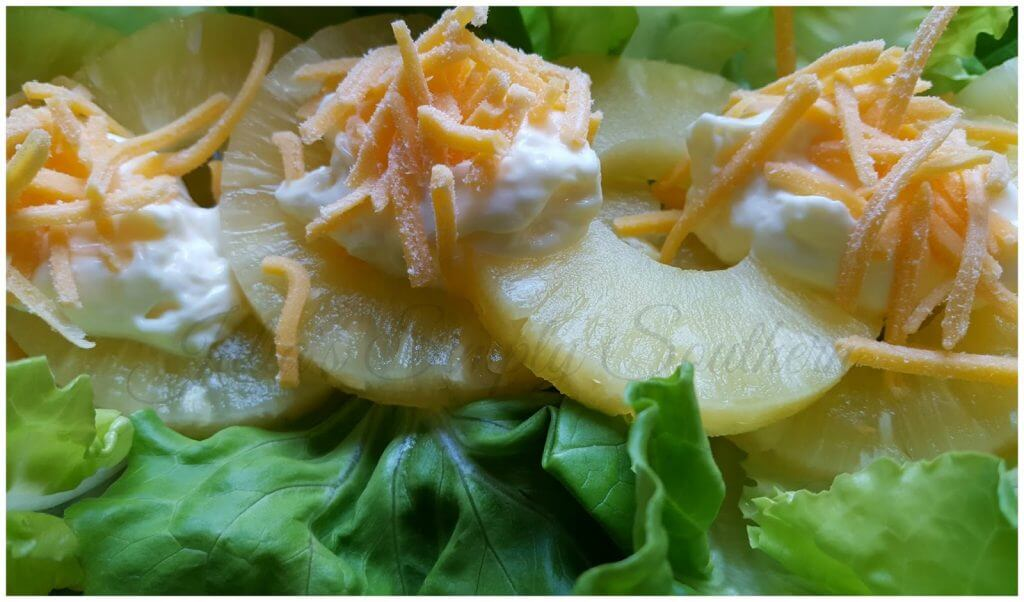 Pineapple Salad with mayo and cheese