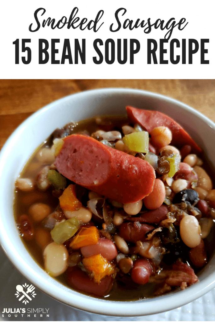 classic 15 bean soup recipe Pinterest