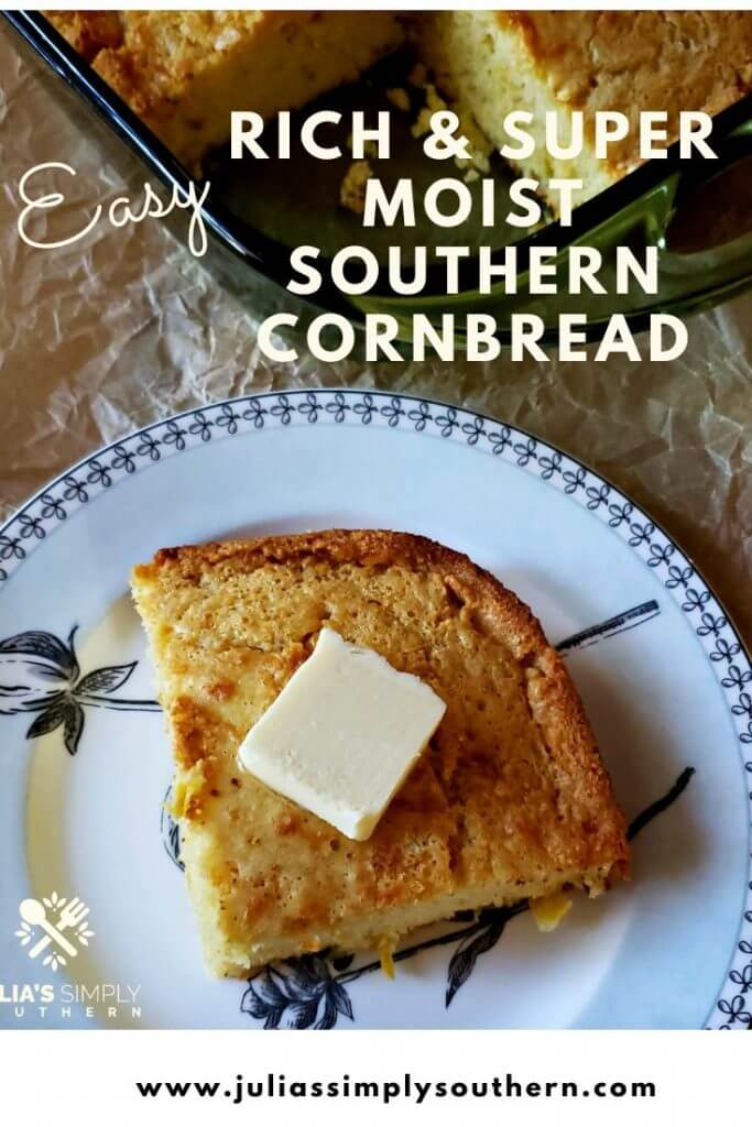 Pinterest Image for Cornbread recipe