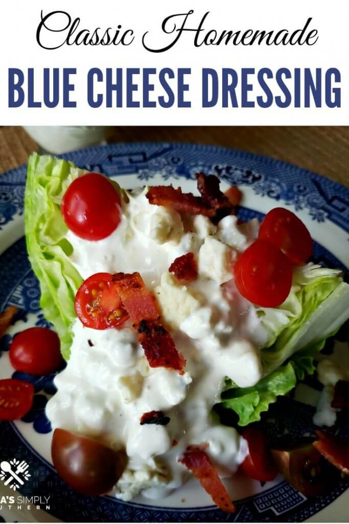 Pinterest Image for Chunky Blue Cheese Dressing Recipe