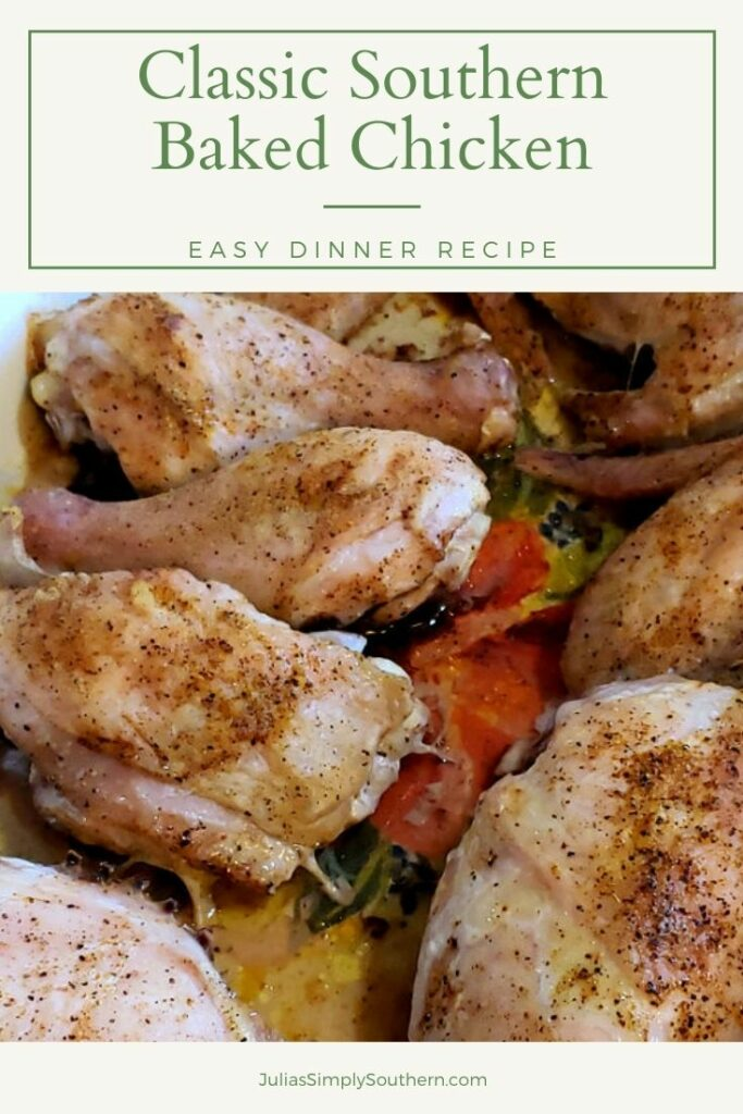 classic baked chicken - Pinterest graphic