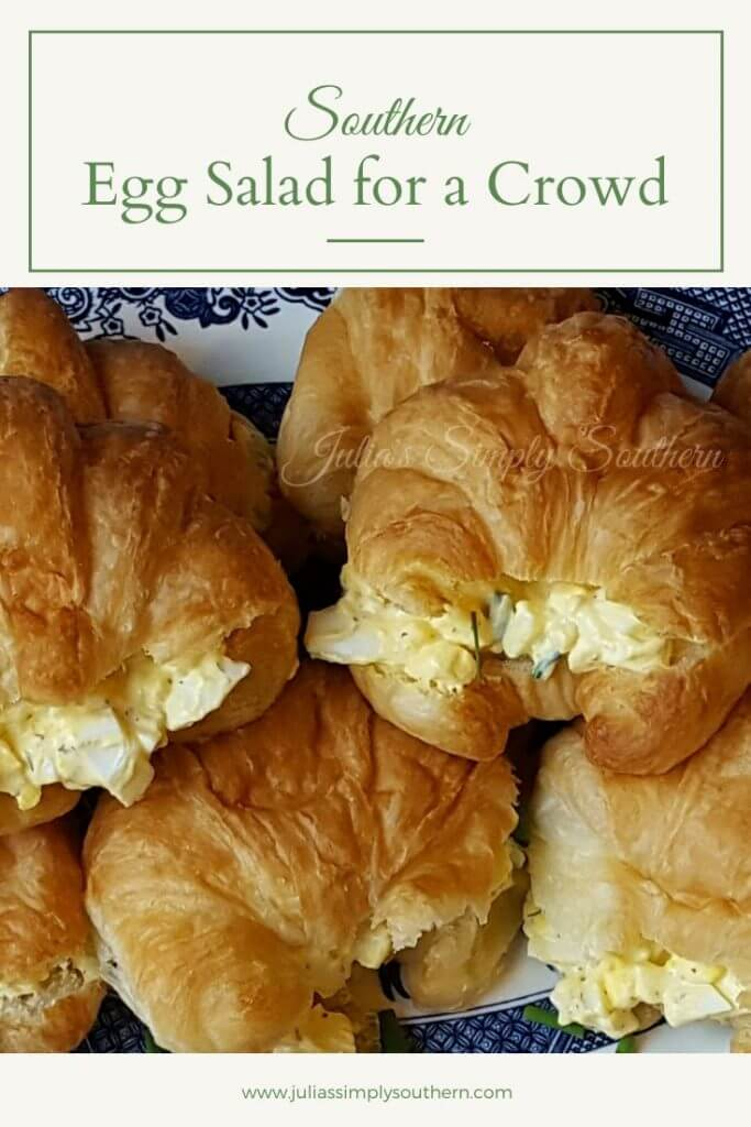 Egg salad on croissants