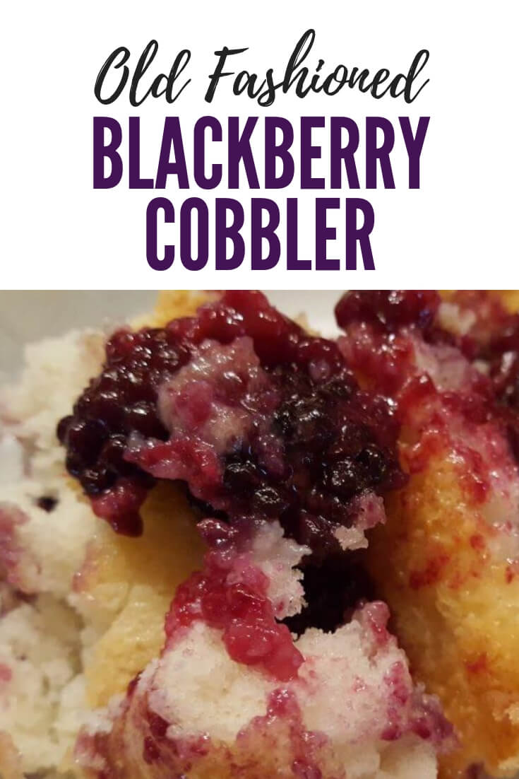 How to make old fashioned blackberry cobbler dessert with fresh berries #summer #vintagerecipes #blackberrycobbler