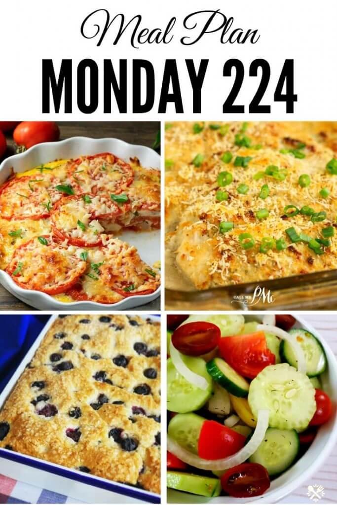 Meal Plan Monday 224 Pinterest