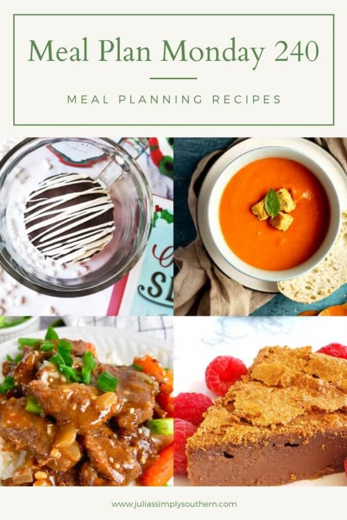 meal plan monday 240 pinterest