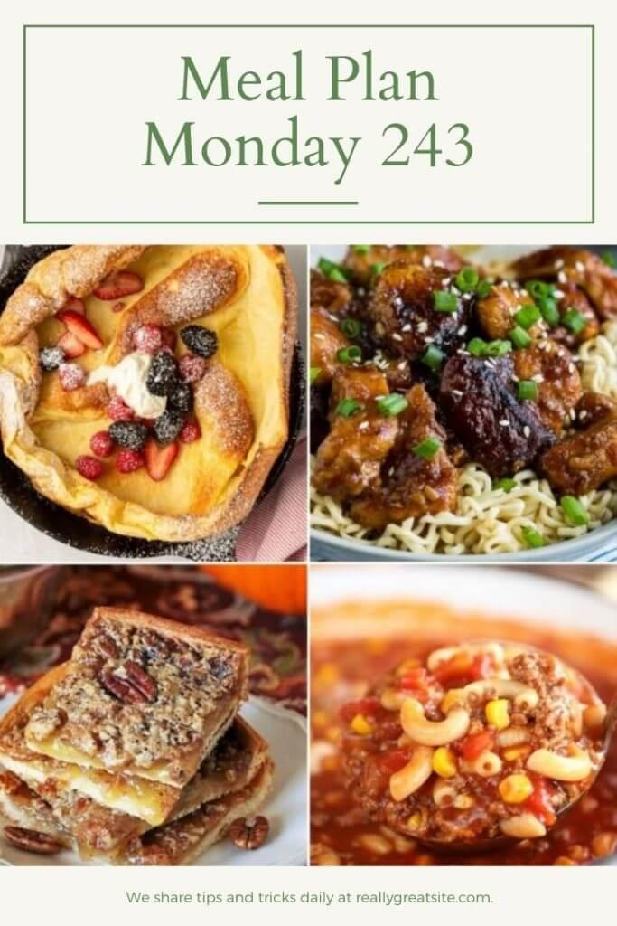 Meal Plan Monday 243 - Pinterest