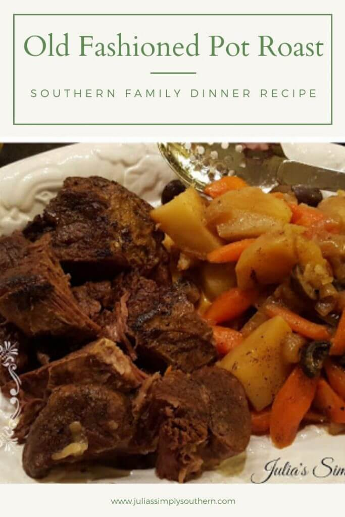 delicious pot roast dinner with vegetables
