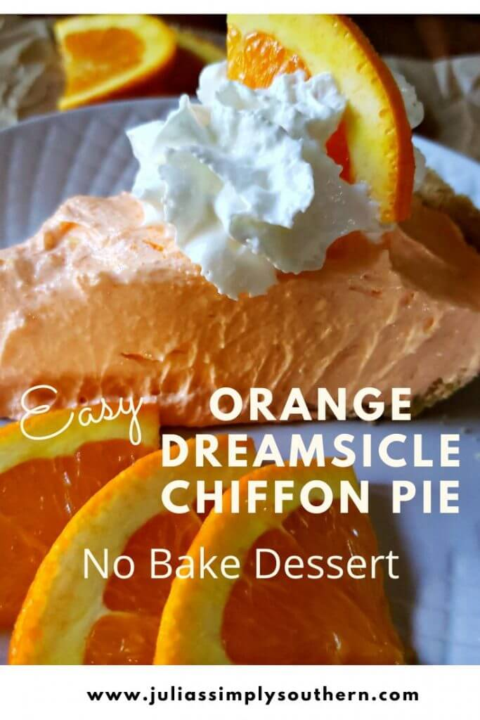 Pin Image for Orange Dreamsicle Pie Recipe