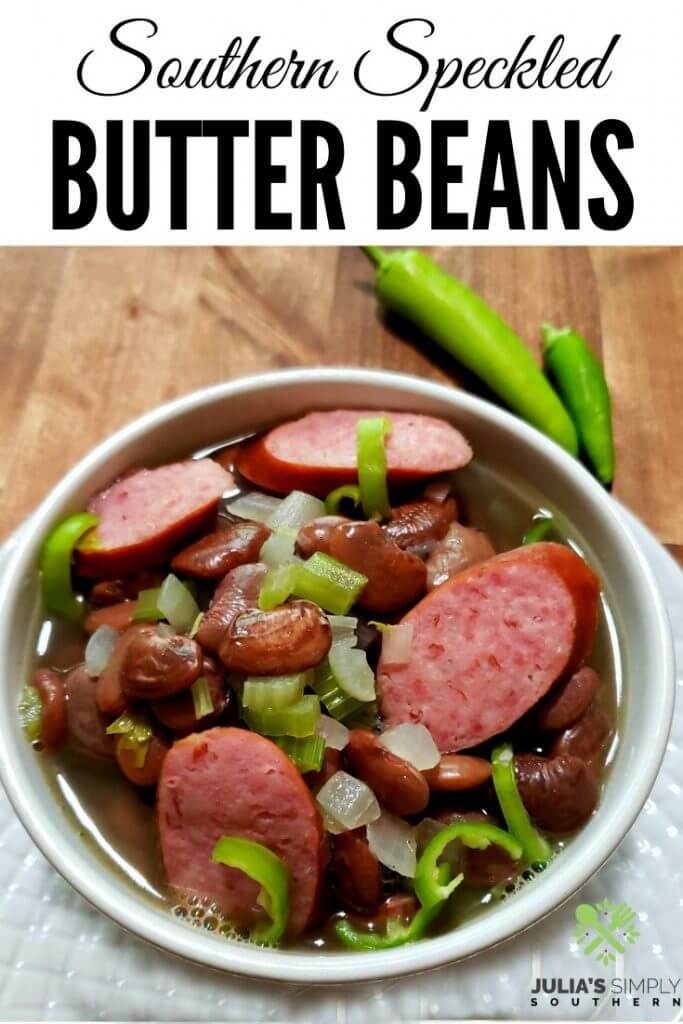 Speckled Butter Beans Recipe Pinterest Image - Julia's Simply Southern Recipes