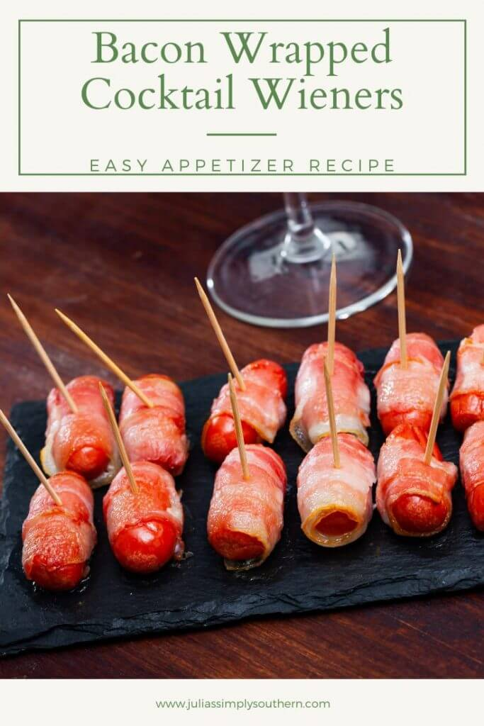 cocktail wiener appetizer - bacon wrapped lit'l smokies